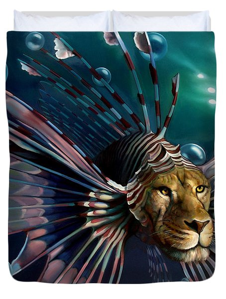 THE GUARDIAN Duvet Cover by Patrick Anthony Pierson