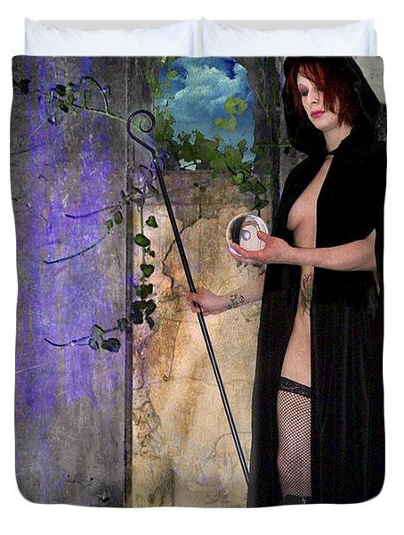 The Hermit Duvet Cover by Tammy Wetzel