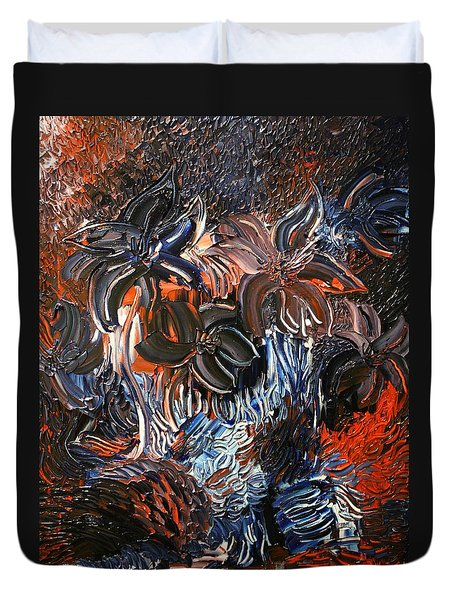 The Hibiscus Flowers Duvet Cover by Michael Kulick