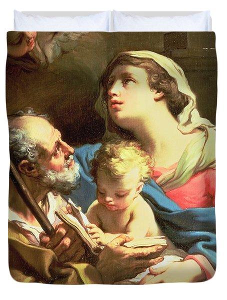 The Holy Family Duvet Cover by Gaetano Gandolfi