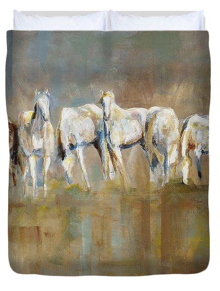 The Horizon Line Duvet Cover by Frances Marino