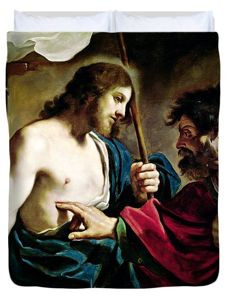 The Incredulity Of Saint Thomas Duvet Cover by Guercino