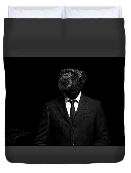 The Interview Duvet Cover by Paul Neville