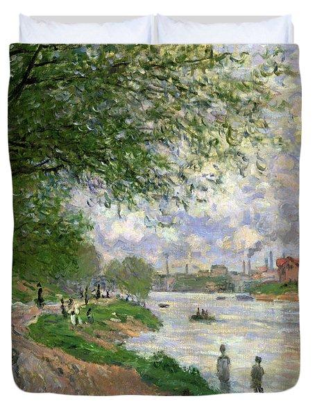 The Island Of La Grande Jatte Duvet Cover by Claude Monet