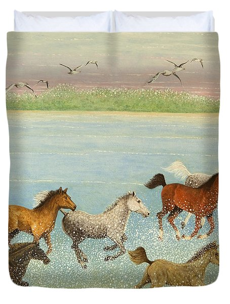 The Joy Of Freedom Duvet Cover by Pat Scott