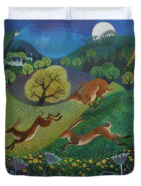 The Joy Of Spring Duvet Cover by Lisa Graa Jensen