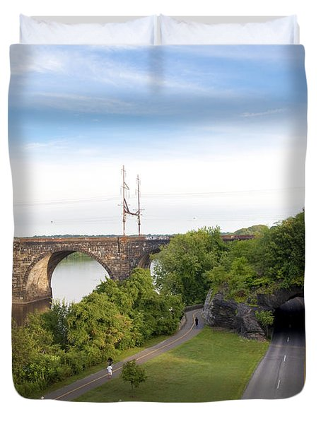 The Kelly Drive Rock Tunnel Duvet Cover by Bill Cannon