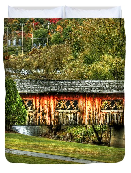 The Kissing Bridge Duvet Cover by Evelina Kremsdorf