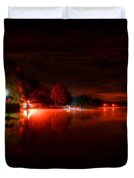 The Lake At Nightfall Duvet Cover by Michael Garyet