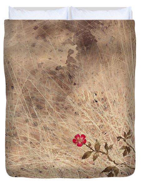 The Last Blossom Duvet Cover by Rachel Christine Nowicki