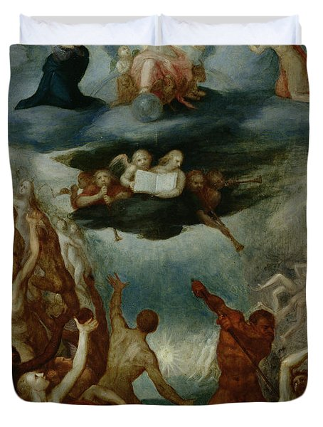 The Last Judgement  Duvet Cover by Martin Pepyn