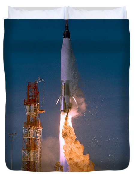 The Launch Of The Mercury Atlas Duvet Cover by Stocktrek Images