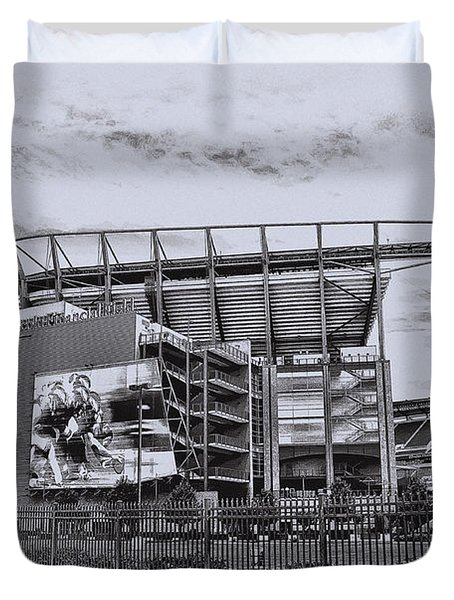 The Linc - Philadelphia Eagles Duvet Cover by Bill Cannon