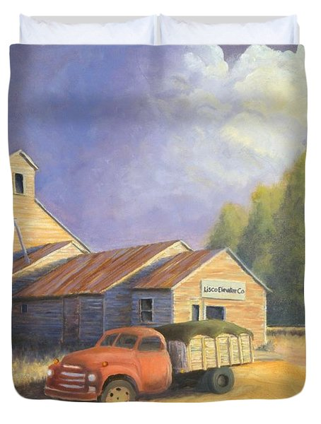 The Lisco Elevator Duvet Cover by Jerry McElroy