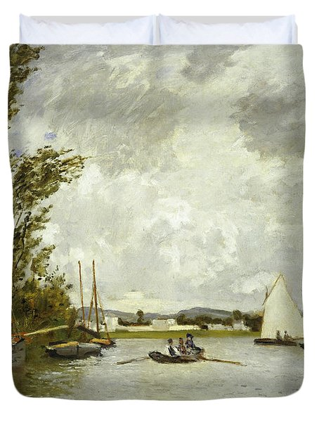 The Little Branch Of The Seine At Argenteuil Duvet Cover by Claude Monet