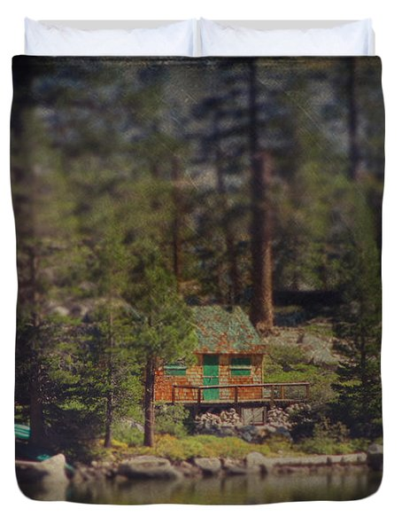 The Little Cabin Duvet Cover by Laurie Search