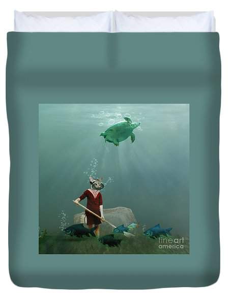 The Little Gardener Duvet Cover by Martine Roch