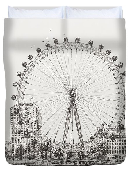The London Eye Duvet Cover by Vincent Alexander Booth