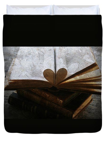 The Love of a Book Duvet Cover by Georgia Fowler