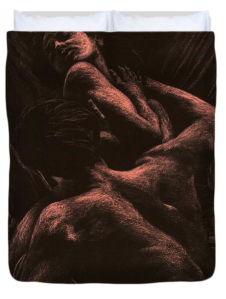The Lovers Duvet Cover by Richard Young
