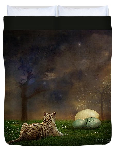 The Magical Of Life Duvet Cover by Martine Roch