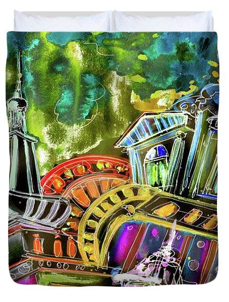 The Magical Rooftops of Prague 02 Duvet Cover by Miki De Goodaboom