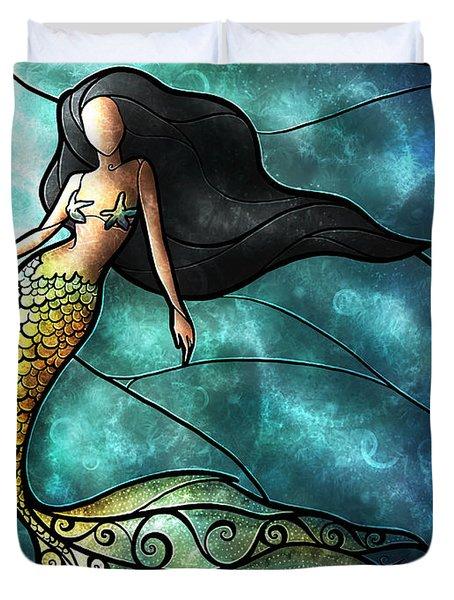 The Mermaid Duvet Cover by Mandie Manzano