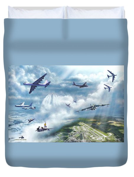 The Mighty Loring A F B Duvet Cover by Dave Luebbert