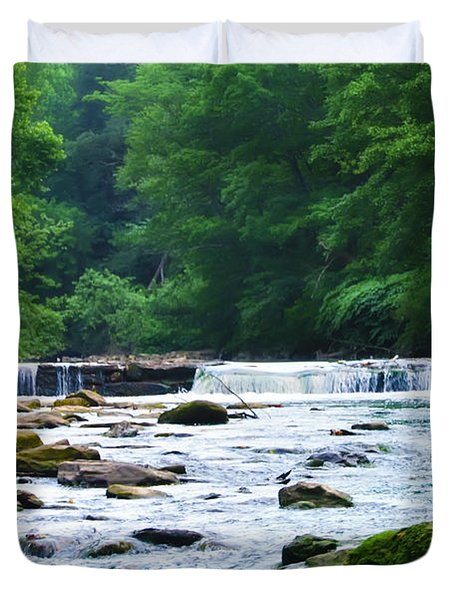 The Mighty Wissahickon Duvet Cover by Bill Cannon