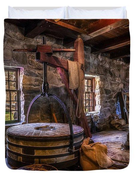 The Milling Room Duvet Cover by Mark Papke