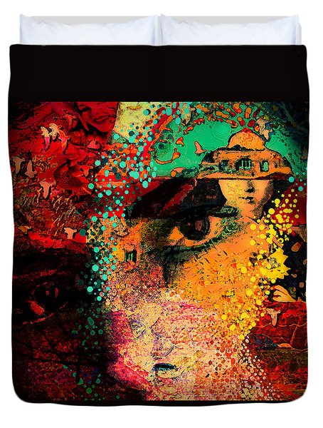 The Mind's Eye Duvet Cover by Jeff Burgess