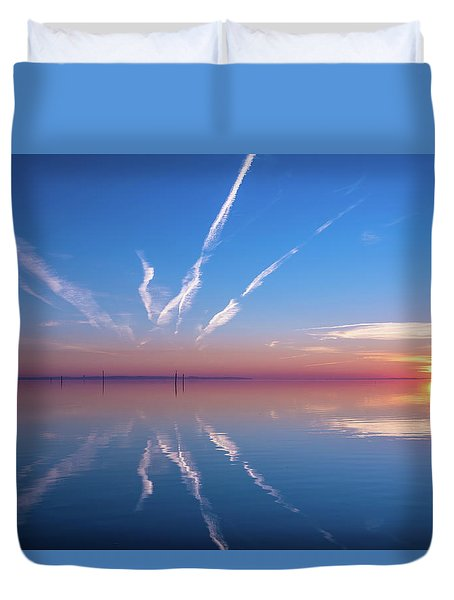 Duvet Cover featuring the photograph The Mirror by Thierry Bouriat