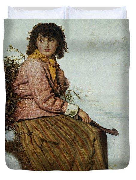 The Mistletoe Gatherer Duvet Cover by Sir John Everett Millais
