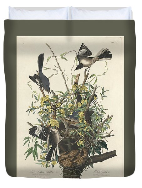 The Mockingbird Duvet Cover by John James Audubon