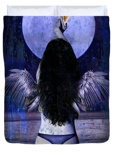 The Moon Duvet Cover by Tammy Wetzel