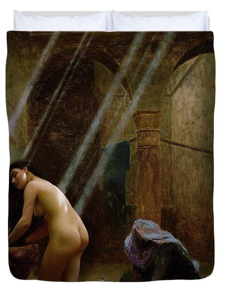 The Moorish Bath Duvet Cover by Jean Leon Gerome