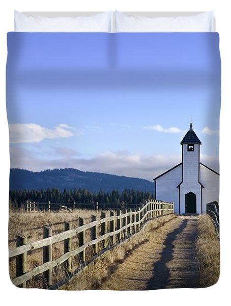 The Morley Church, Alberta, Canada Duvet Cover by Philippe Widling