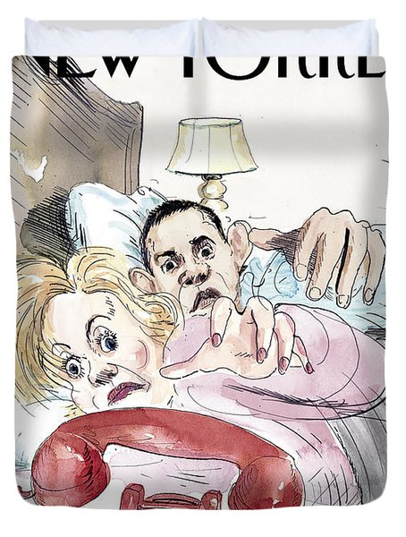 The New Yorker Cover - March 17th, 2008 Duvet Cover by Conde Nast