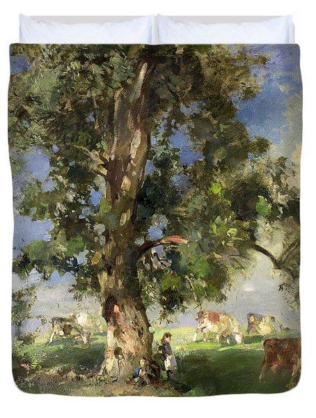The Old Ash Tree Duvet Cover by Edward Arthur Walton