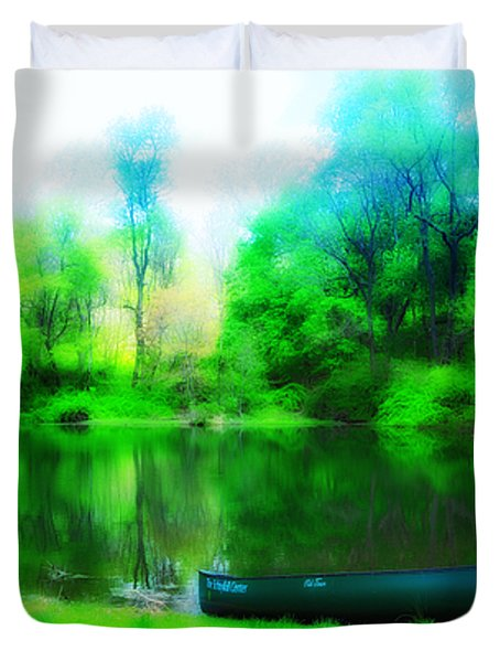 The Old Fishin Hole Duvet Cover by Bill Cannon