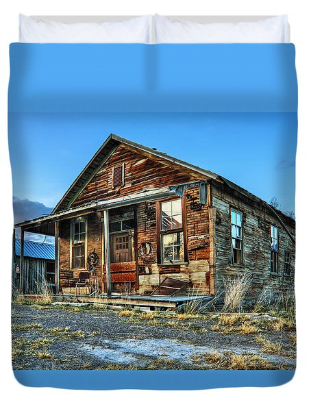 The Old Wendel General Store Duvet Cover by James Eddy