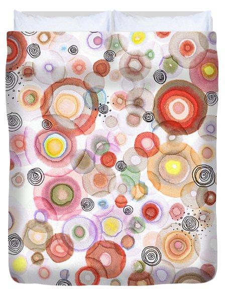 The Orbits Of Joy Duvet Cover by Regina Valluzzi
