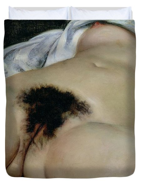 The Origin Of The World Duvet Cover by Gustave Courbet