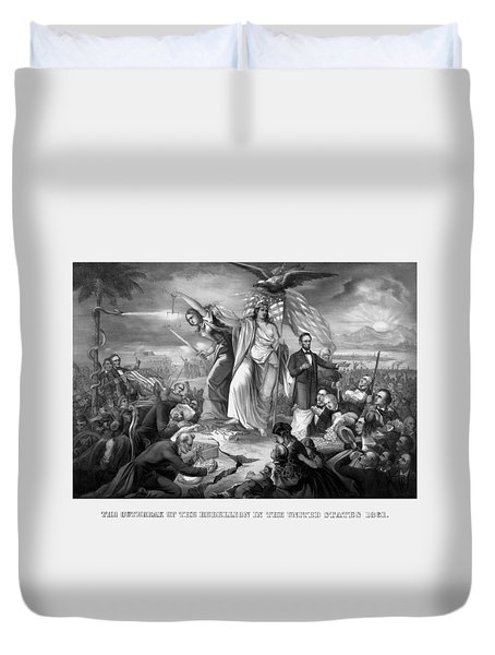 The Outbreak Of The Rebellion In The United States Duvet Cover by War Is Hell Store