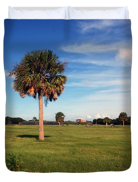 The Palmetto Tree Duvet Cover by Susanne Van Hulst