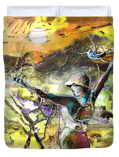 The Parable Of The Sower Duvet Cover by Miki De Goodaboom