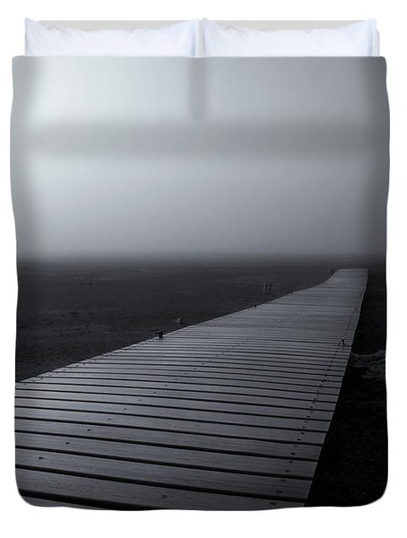 The Path Duvet Cover by Mike  Dawson