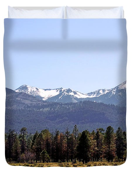 The Peaks - Where earth meets heaven Duvet Cover by Christine Till