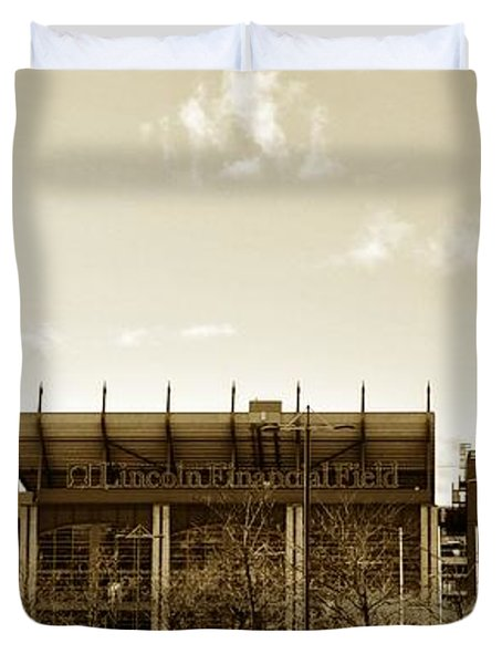 The Philadelphia Eagles - Lincoln Financial Field Duvet Cover by Bill Cannon