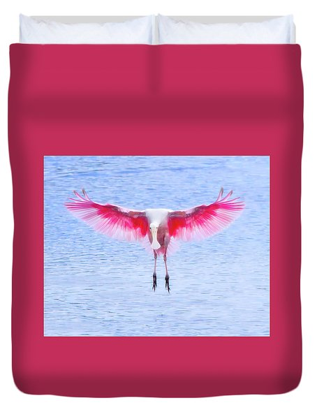 The Pink Angel Duvet Cover by Mark Andrew Thomas